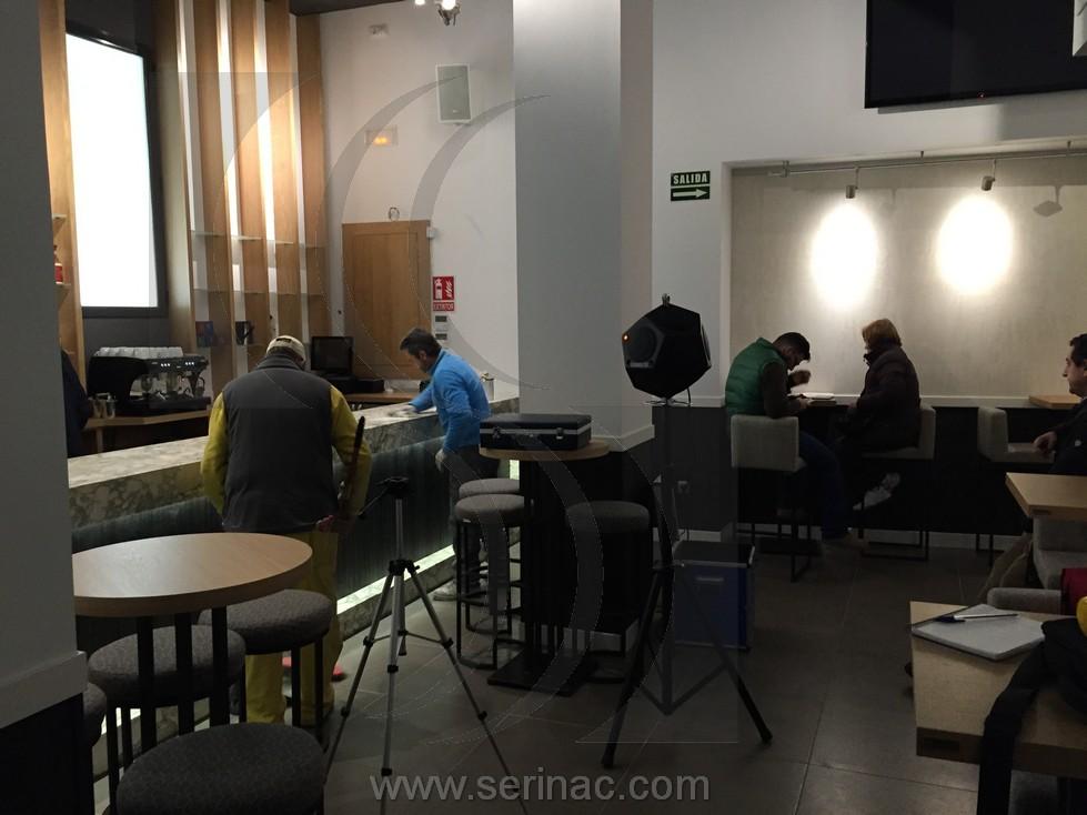 Auditoria acústica restaurante