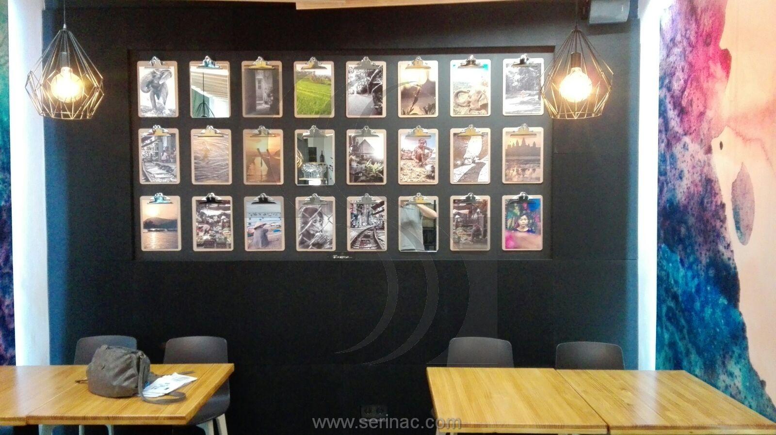 Panel acústico negro pared