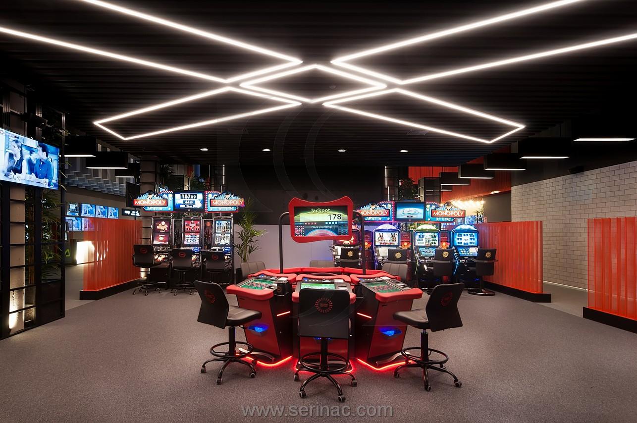 salón de juegos acústica